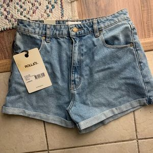 """Rolla's high-waisted Jean """"Duster"""" short"""